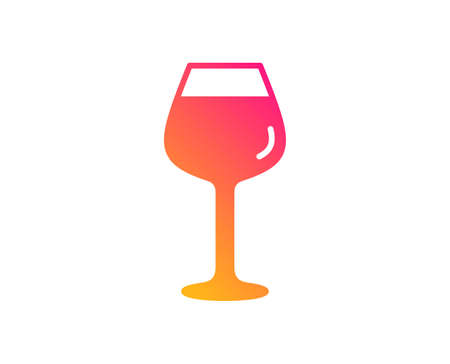 Wine glass icon. Bordeaux glass sign. Classic flat style. Gradient bordeaux glass icon. Vector Illustration