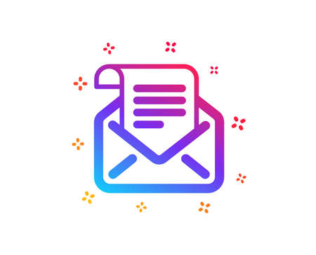 Mail newsletter icon. Read Message correspondence sign. E-mail symbol. Dynamic shapes. Gradient design mail newsletter icon. Classic style. Vector