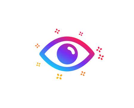 Augensymbol. Blick oder optisches Sehzeichen. Ansichts- oder Watch-Symbol. Dynamische Formen. Augensymbol mit Farbverlauf. Klassischer Stil. Vektor Vektorgrafik