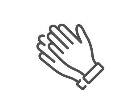 Clapping hands line icon. Clap sign. Victory gesture symbol. Quality design element. Linear style clapping hands icon. Editable stroke. Vector