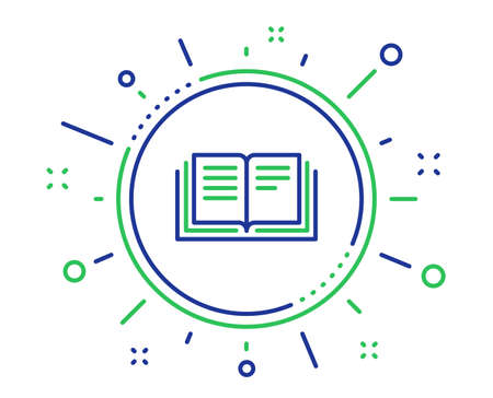 Book line icon. Education symbol. Instruction or E-learning sign. Quality design elements. Technology education button. Editable stroke. Vector