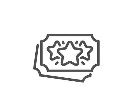 Loyalty points line icon. Bonus coupons. Discount program symbol. Quality design element. Linear style loyalty points icon. Editable stroke. Vector Reklamní fotografie - 124955385