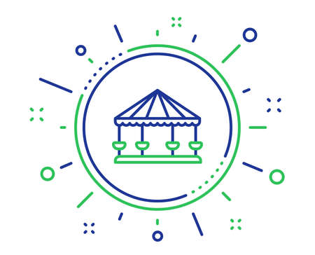 Carousels line icon. Amusement park sign. Quality design elements. Technology carousels button. Editable stroke. Vector