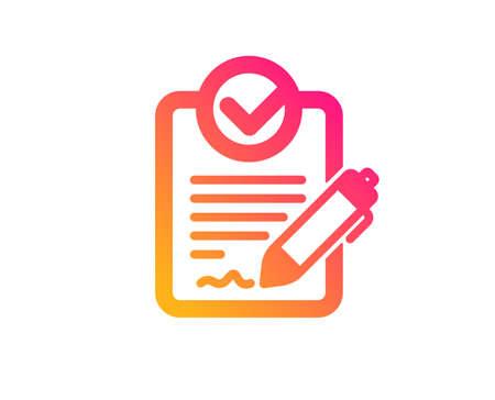 Icône RFP. Demande de signe de proposition. Signaler le symbole du document. Style plat classique. Icône de dégradé rfp. Vecteur Vecteurs