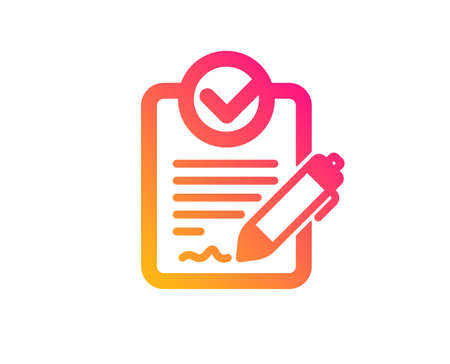 Rfp icon. Request for proposal sign. Report document symbol. Classic flat style. Gradient rfp icon. Vector Vector Illustration
