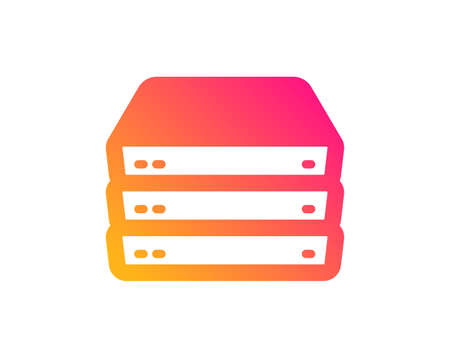 Servers icon. PC component sign. Big data storage symbol. Classic flat style. Gradient servers icon. Vector 일러스트