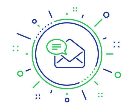 New Mail line icon. Message correspondence sign. E-mail symbol. Quality design elements. Technology new Mail button. Editable stroke. Vector