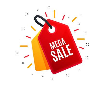 Sale tag. Mega Sale. Special offer price sign. Advertising Discounts symbol. Shopping banner. Market offer. Vector