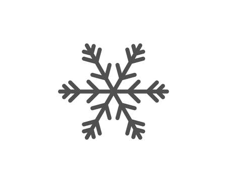 Air conditioning line icon. Snowflake sign. Hotel service symbol. Quality design element. Linear style air conditioning icon. Editable stroke. Vector