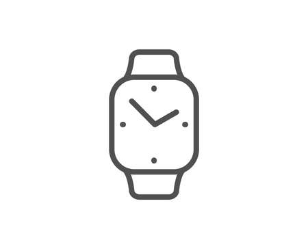 Digital time line icon. Clock sign. Smartwatch symbol. Quality design element. Linear style smartwatch icon. Editable stroke. Vector