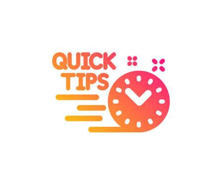 Quick tips icon. Helpful tricks sign. Tutorials symbol. Classic flat style. Gradient quick tips icon. Vector Illustration