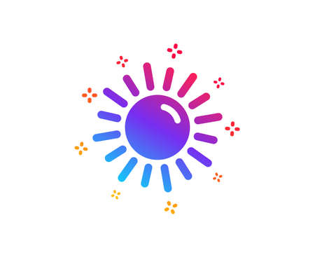 Sun icon. Hot weather sign. Summer symbol. Dynamic shapes. Gradient design sun icon. Classic style. Vector Иллюстрация