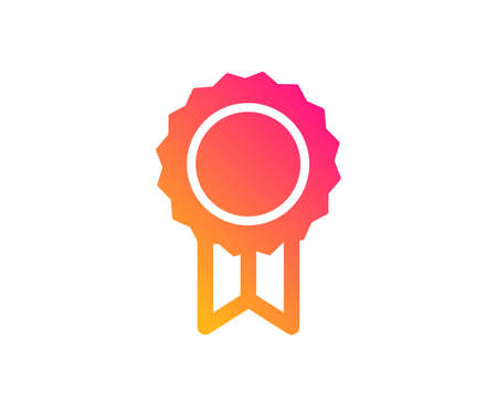 Award Medal icon. Winner achievement symbol. Glory or Honor sign. Classic flat style. Gradient reward icon. Vector Çizim
