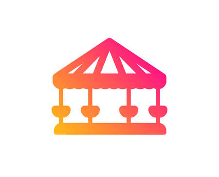 Carousels icon. Amusement park sign. Classic flat style. Gradient carousels icon. Vector