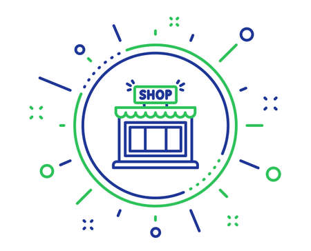 Shop line icon. Store symbol. Shopping building sign. Quality design elements. Technology shop button. Editable stroke. Vector Standard-Bild - 126174434