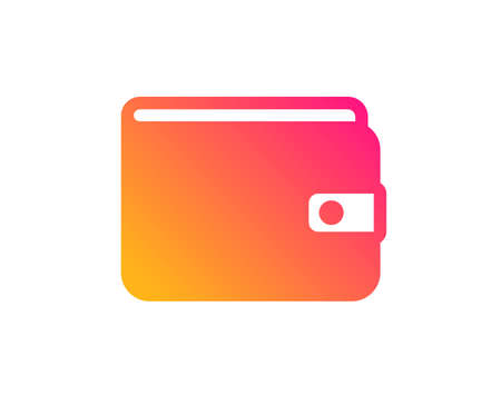 Money Wallet icon. Cash symbol. Payment method sign. Classic flat style. Gradient money Wallet icon. Vector