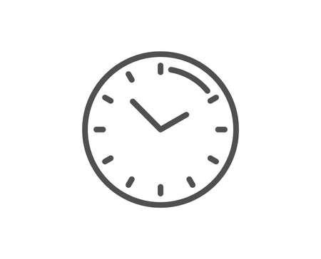 Time management line icon. Clock sign. Watch symbol. Quality design element. Linear style time icon. Editable stroke. Vector