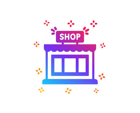 Shop icon. Store symbol. Shopping building sign. Dynamic shapes. Gradient design shop icon. Classic style. Vector Standard-Bild - 126664037