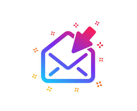 Open Mail icon. View Message correspondence sign. E-mail symbol. Dynamic shapes. Gradient design open Mail icon. Classic style. Vector