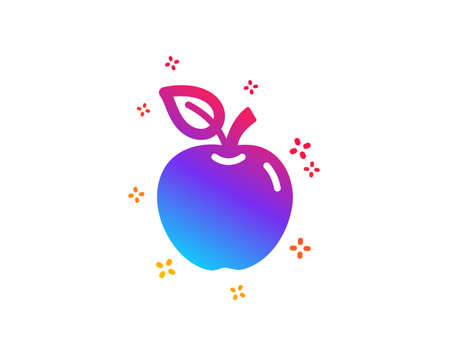 Apple icon. Fresh fruit sign. Natural food symbol. Dynamic shapes. Gradient design apple icon. Classic style. Vector