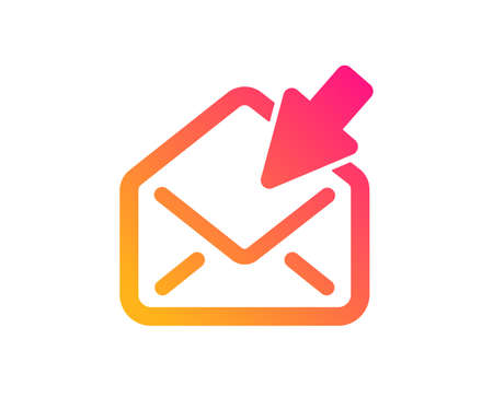 Open Mail icon. View Message correspondence sign. E-mail symbol. Classic flat style. Gradient open Mail icon. Vector