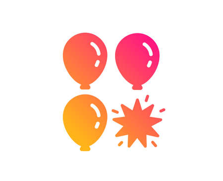 Balloon dart icon. Amusement park sign. Pop the balloon symbol. Classic flat style. Gradient balloon dart icon. Vector