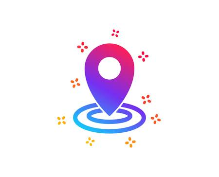 Location icon. Map pointer sign. Dynamic shapes. Gradient design location icon. Classic style. Vector Illustration