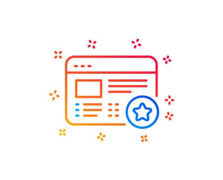 Star line icon. Feedback rating sign. Web favorite symbol. Gradient design elements. Linear favorite icon. Random shapes. Vector