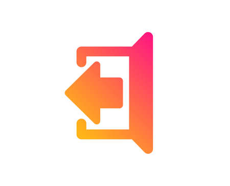 Logout arrow icon. Sign out symbol. Navigation pointer. Classic flat style. Gradient sign out icon. Vector