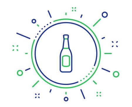 Beer bottle line icon. Pub Craft beer sign. Brewery beverage symbol. Quality design elements. Technology beer button. Editable stroke. Vector Illustration