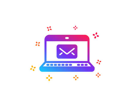 E-Mail icon. Message correspondence sign. Communication symbol. Dynamic shapes. Gradient design e-Mail icon. Classic style. Vector
