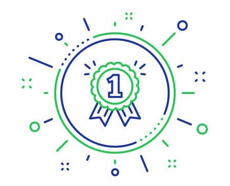 Reward Medal line icon. Winner achievement or Award symbol. Glory or Honor sign. Quality design elements. Technology reward button. Editable stroke. Vector Illustration
