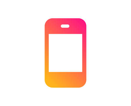 Smartphone icon. Cellphone or Phone sign. Ð¡ommunication Mobile device symbol. Classic flat style. Gradient smartphone icon. Vector