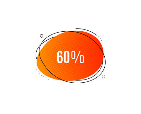 60% off Sale. Banner badge, offer sticker. Discount offer price sign. Special offer symbol. Discount banner. Sticker badge. Vector