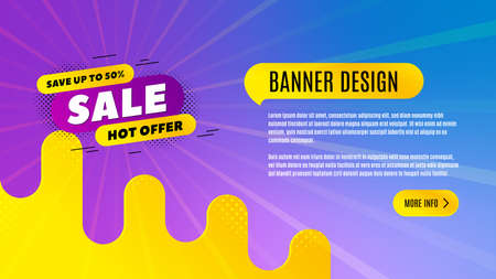 Sale 30% off badge. Discount banner shape. Hot offer icon. Abstract background design. Banner with offer badge. Vector