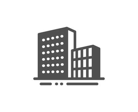 City architecture sign. Buildings icon. Skyscraper building symbol. Classic flat style. Simple buildings icon. Vector Standard-Bild - 127386238