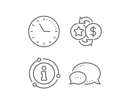 Loyalty points line icon. Chat bubble, info sign elements. Bonus money. Discount program symbol. Linear loyalty points outline icon. Information bubble. Vector