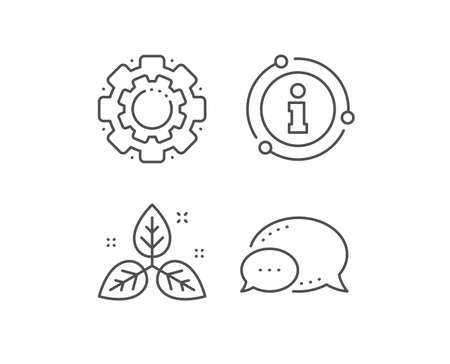 Fair trade line icon. Chat bubble, info sign elements. Bio cosmetics sign. Organic tested symbol. Linear fair trade outline icon. Information bubble. Vector Çizim