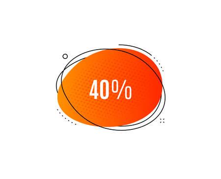 40% off Sale. Banner badge, offer sticker. Discount offer price sign. Special offer symbol. Discount banner. Sticker badge. Vector