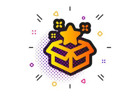 Bonus points. Halftone circles pattern. Loyalty program icon. Discount box symbol. Classic flat loyalty program icon. Vector Illustration