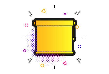 Louvers rolls sign icon. Halftone dots pattern. Window blinds or jalousie symbol. Classic flat louvers icon. Vector Ilustração