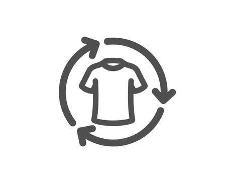 Shirt sign. Change clothes icon. Clothing t-shirt symbol. Classic flat style. Simple change clothes icon. Vector