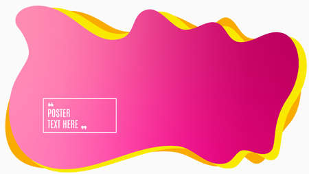 Blurred background. Geometric liquid shape. Abstract pink and purple gradient design. Dynamic shape background. Landing page blurred cover. Composition template banner. Vector