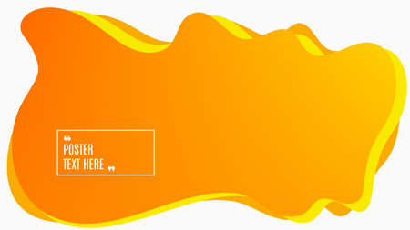 Blurred background. Geometric liquid shape. Abstract orange and yellow gradient design. Dynamic shape background. Landing page blurred cover. Composition template banner. Vector 일러스트