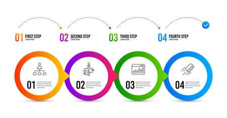 Management, Block diagram and Marketing statistics line icons set. Timeline infographic. Credit card sign. Agent, Algorithm path, Web analytics. Bank payment. Education set. Management icon. Vector
