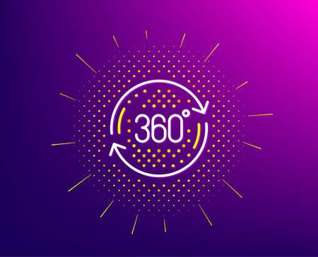 360 degree line icon