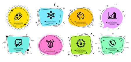 Dollar target, Graph chart and Love letter line icons set. Ilustração