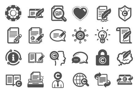 Copywriting book icons on white Ilustração