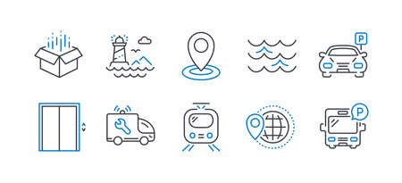 Set of Transportation icons on white