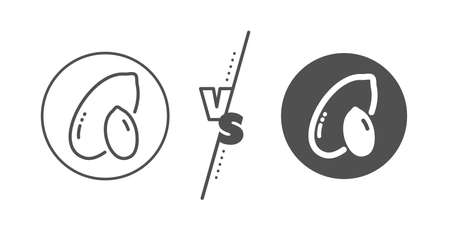 Tasty nut sign on white Illustration
